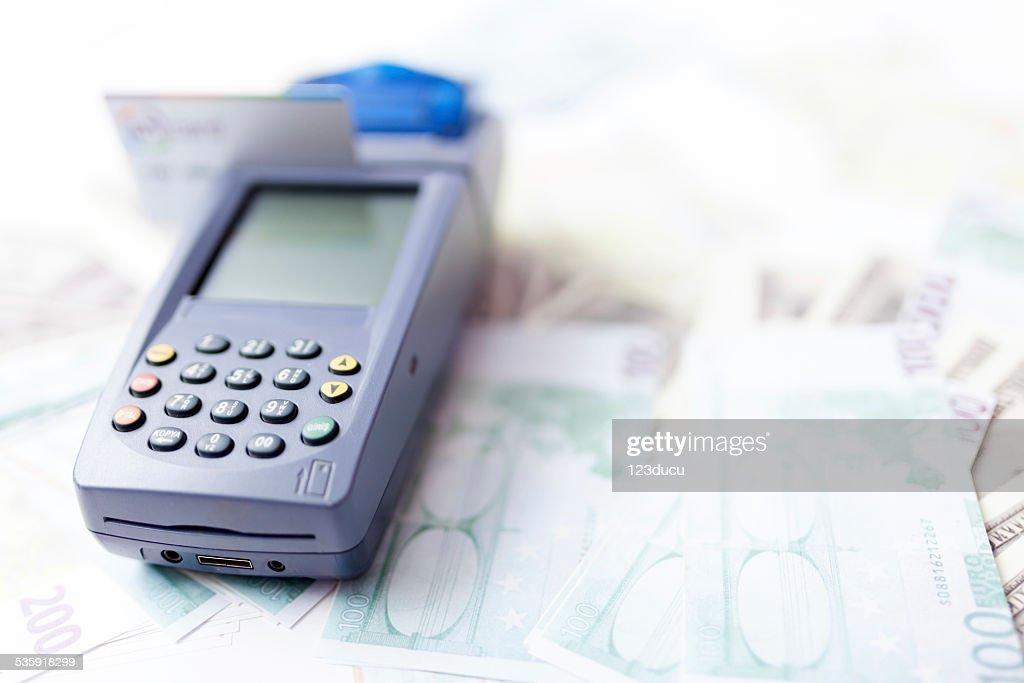 Credit card reader : Stock Photo