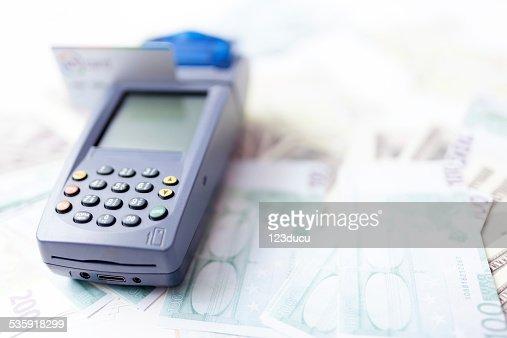Credit card reader : Stock Photo