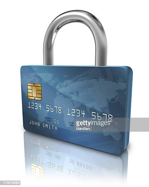 Credit card security lock