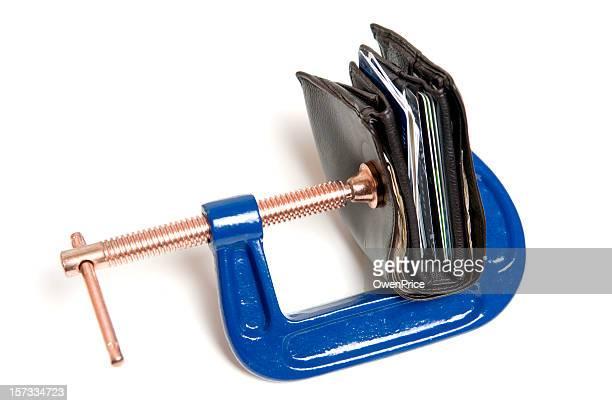 Credit Crunch Financial Pressure Concept