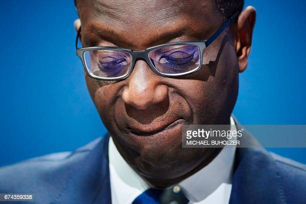 Credit Suisse chief executive officer Tidjane Thiam attends the annual shareholders meeting of the Swiss banking group in Zurich on April 28 2017 /...