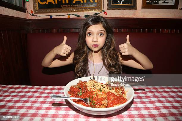 Cree Cicchino promotes Nickelodeon's 'Game Shakers' with a meet and greet with children from 'The Kids League' at Buca di Beppo Times Square on...