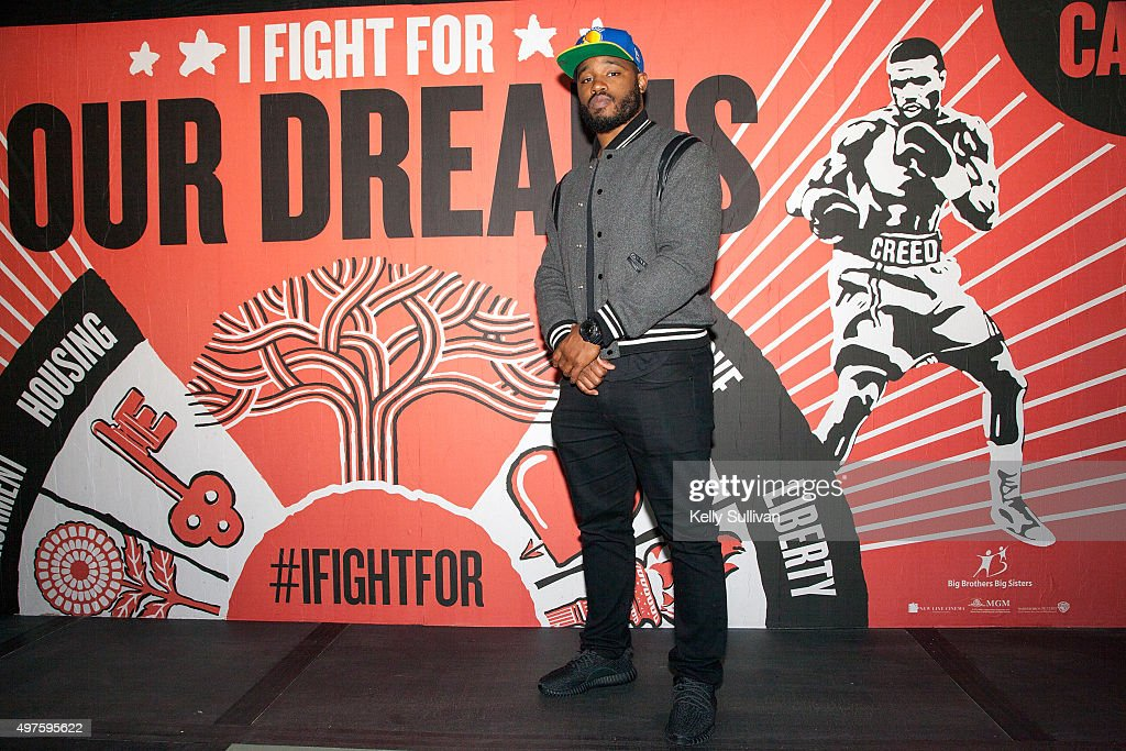 'Creed' director <a gi-track='captionPersonalityLinkClicked' href=/galleries/search?phrase=Ryan+Coogler&family=editorial&specificpeople=7316581 ng-click='$event.stopPropagation()'>Ryan Coogler</a> poses in front of a movie-themed mural at The Guardian Project on November 17, 2015 in Oakland, California.