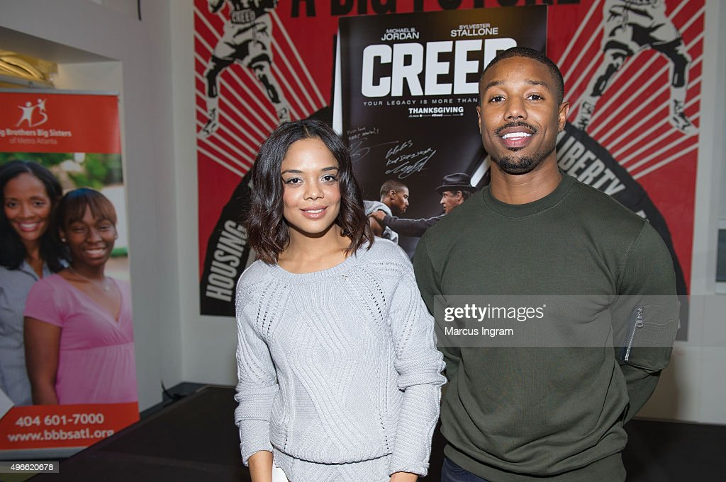 'Creed' Stars Michael B. Jordan And Tessa Thompson Join Writer/Director Ryan Coogler For A Big Brothers Big Sisters Of Metro Atlanta Mural Unveiling