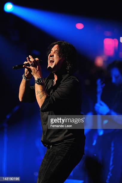 Creed's lead singer Scott Stapp performs onstage at the Beacon Theatre on April 20 2012 in New York City