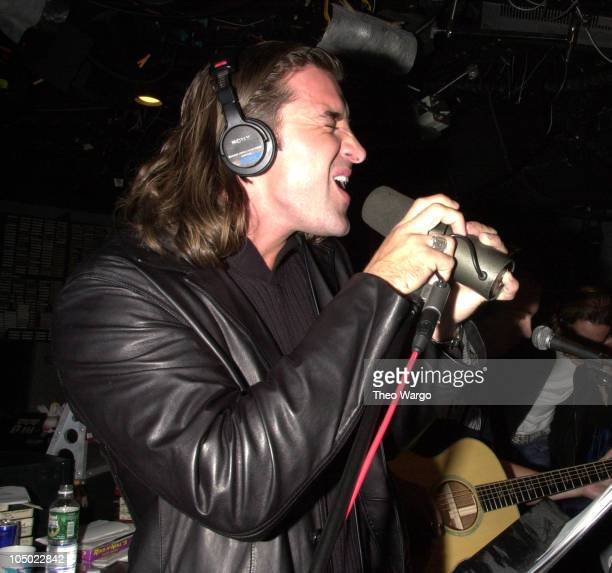 Creed's Scott Stapp during Creed perform a special acoustic set at 923 KRock studios in New York City at KRock Studios in New York City New York...