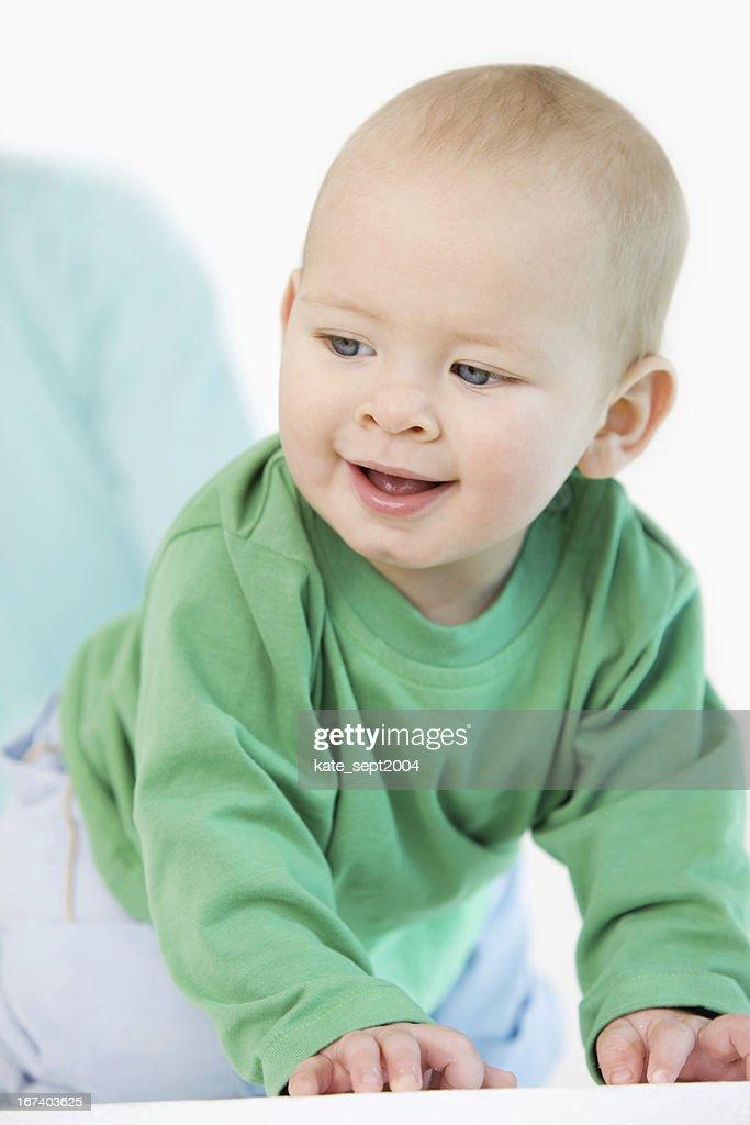 Creeping baby : Stock Photo
