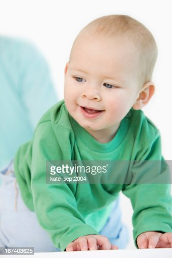 Creeping baby : Stock Photo