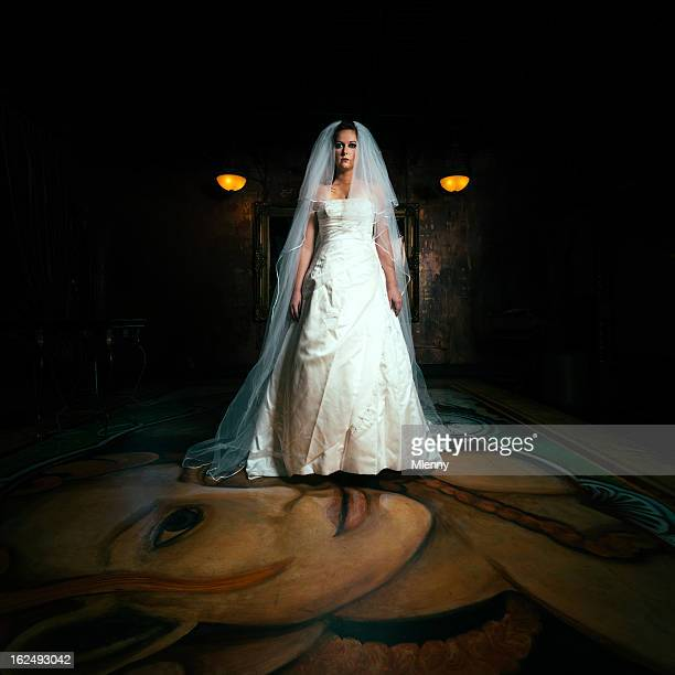 Creepy Bride White Wedding