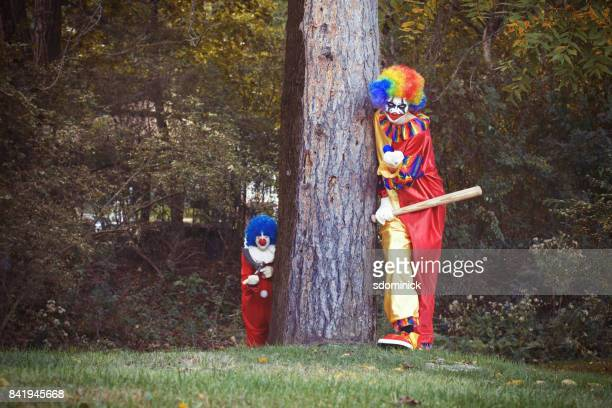 Creepy Clowns In The Woods
