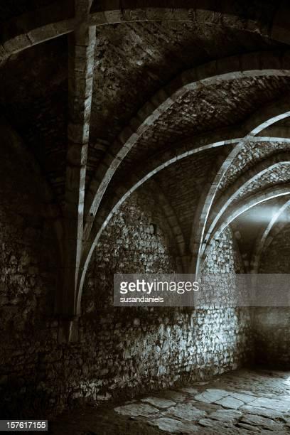 creepy medieval cellar