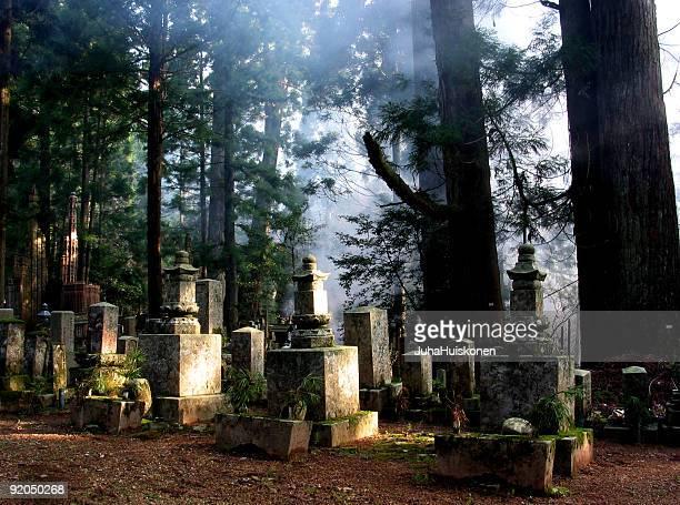 怖い以上の仏教墓地では、日本の Koya 山