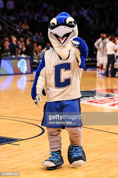 Creighton Bluejays Mascot Billy Bluejay during the first half of the Big East Tournament quarterfinal game between the Seton Hall Pirates and the...