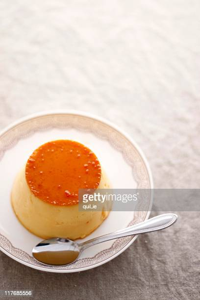 Creme caramel in simple style