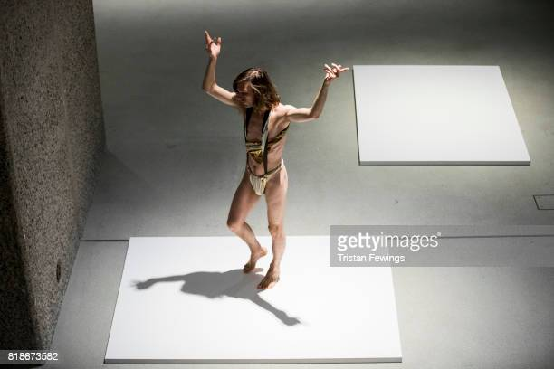 Creon's Solo is performed at Trajal Harrell Hoochie Koochie A performance exhibition at Barbican Art Gallery on July 18 2017 in London England The...