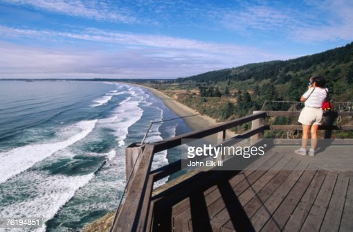 Crescent Beach Overlook, Redwood National Park, California, United States of America, North America : Stock Photo