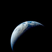 Crescent Earth taken from the Apollo 4 mission.