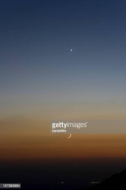 Crescent Tramonto della luna