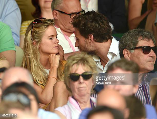 Cressida Bonas and Edward Holcroft attend day eleven of the Wimbledon Tennis Championships at Wimbledon on July 10 2015 in London England
