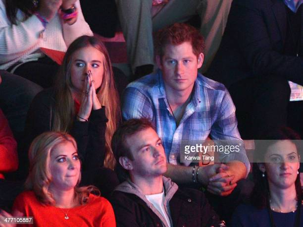Cressida Bonas and Prince Harry attend We Day UK a charity event to bring young people together at Wembley Arena on March 7 2014 in London England