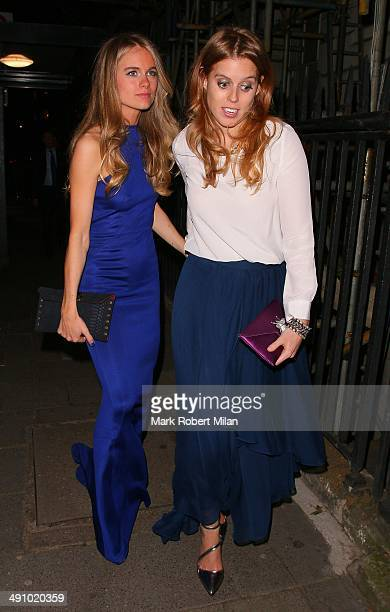 Cressida Bonas and Princess Beatrice of York at Annabel's club on May 15 2014 in London England