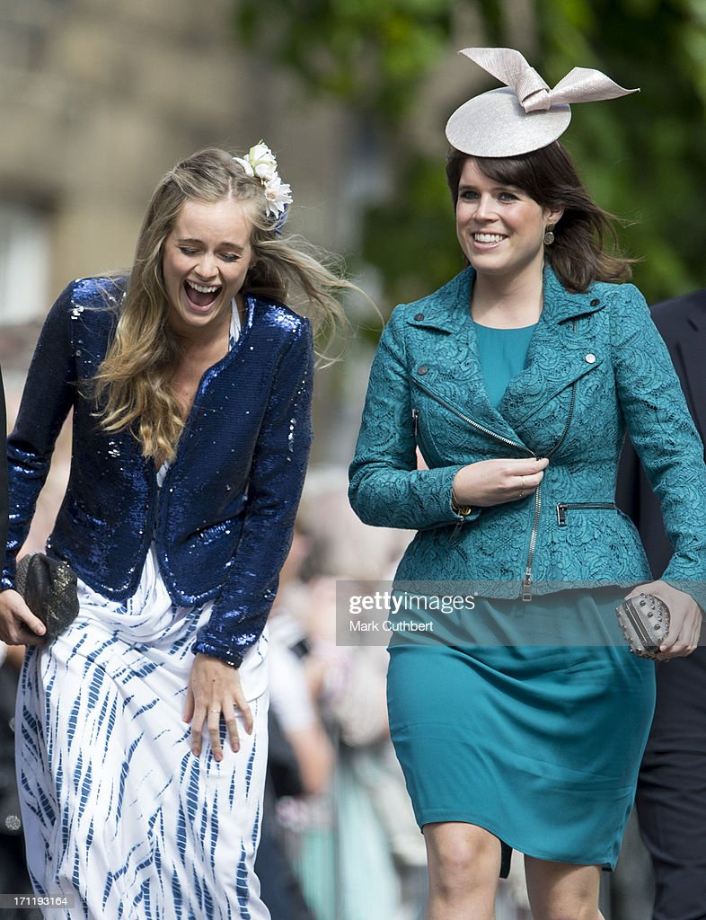 <a gi-track='captionPersonalityLinkClicked' href=/galleries/search?phrase=Cressida+Bonas&family=editorial&specificpeople=8550831 ng-click='$event.stopPropagation()'>Cressida Bonas</a> and <a gi-track='captionPersonalityLinkClicked' href=/galleries/search?phrase=Princess+Eugenie&family=editorial&specificpeople=160237 ng-click='$event.stopPropagation()'>Princess Eugenie</a> attend the wedding of Melissa Percy and Thomas van Straubenzee at Alnwick Castle on June 22, 2013 in Alnwick, England.