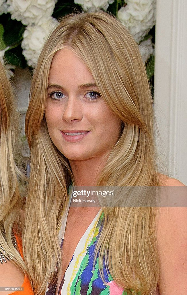 Cressida Bonas (R) attend The Ralph Lauren Wimbledon Party at the Ralph Lauren store