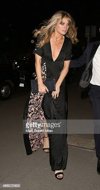 Cressida Bonas attending the Alexander McQueen Savage Beauty Fashion Gala at the VA on March 12 2015 in London England