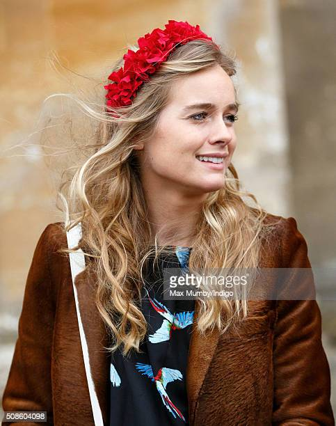 Cressida Bonas attends a memorial service for Miles Frost at Arundel Cathedral on February 5 2016 in Arundel England Miles Frost son of the late Sir...