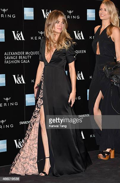 Cressida Bonas attends a private view for the 'Alexander McQueen Savage Beauty' exhibition at Victoria Albert Museum on March 12 2015 in London...