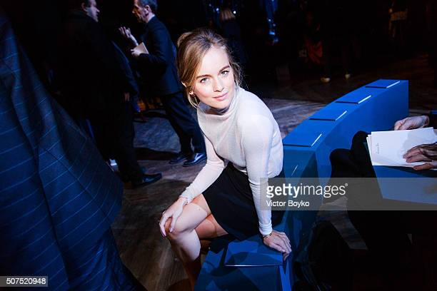Cressida Bonas attends the Christian Dior Haute Couture Spring Summer 2016 show as part of Paris Fashion Week on January 25 2016 in Paris France