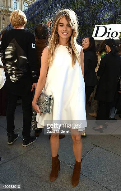 Cressida Bonas attends the Christian Dior show as part of the Paris Fashion Week Womenswear Spring/Summer 2016 on October 2 2015 in Paris France