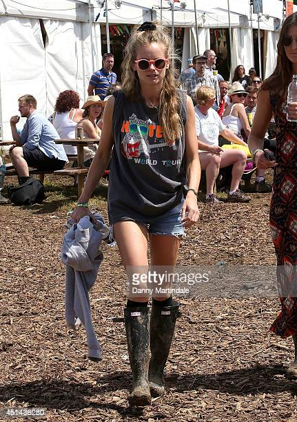 Cressida Bonas attends the Glastonbury Festival at Worthy Farm on June 29 2014 in Glastonbury England