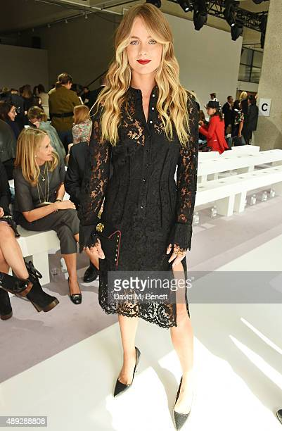 Cressida Bonas attends the Topshop Unique show during London Fashion Week SS16 at The Queen Elizabeth II Conference Centre on September 20 2015 in...