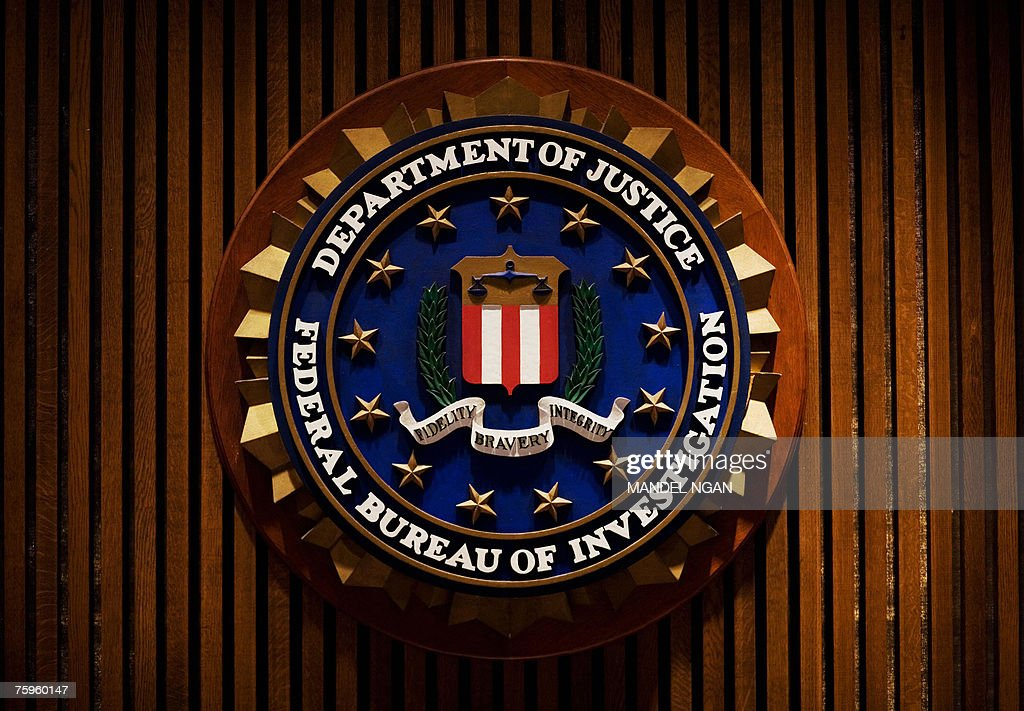 A crest of the Federal Bureau of Investigation is seen 03 August 2007 inside the J. Edgar Hoover FBI Building in Washington, DC. AFP PHOTO/Mandel NGAN
