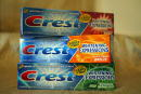 Crest toothpaste is seen September 16 2003 in Los Angeles It is an item in the Emmy gift bag supplied by Distinctive Assets and will be given to...