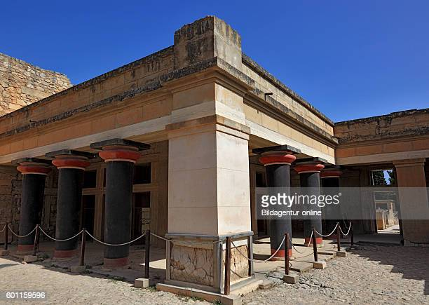 Crete Knossos palace complex of the Minoer The sound of standin Axes hall of the double ax reconstructions