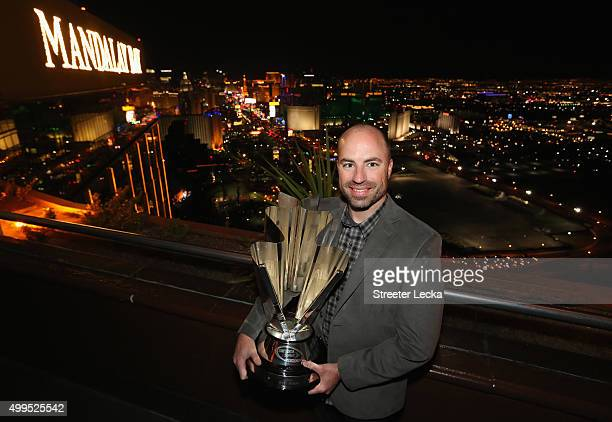 Crew chief Adam Stevens poses at the House of Blues Las Vegas Foundation Room inside the Mandalay Bay Resort and Casino on December 1 2015 in Las...