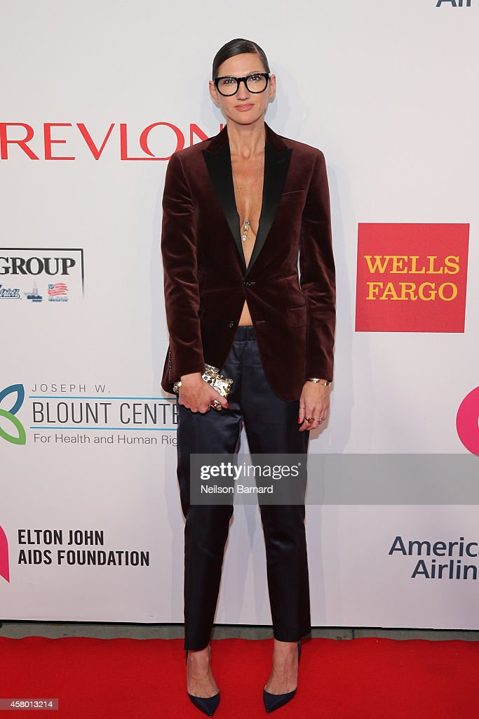 J Crew creative director Jenna Lyons attend the Elton John AIDS Foundation's 13th Annual An Enduring Vision Benefit at Cipriani Wall Street powered...