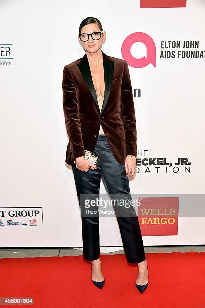 J Crew creative director Jenna Lyons attends the Elton John AIDS Foundation's 13th Annual An Enduring Vision Benefit at Cipriani Wall Street on...