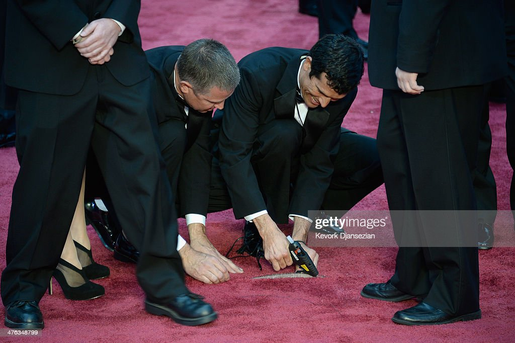 Crew members attend the Oscars held at Hollywood & Highland Center on March 2, 2014 in Hollywood, California.