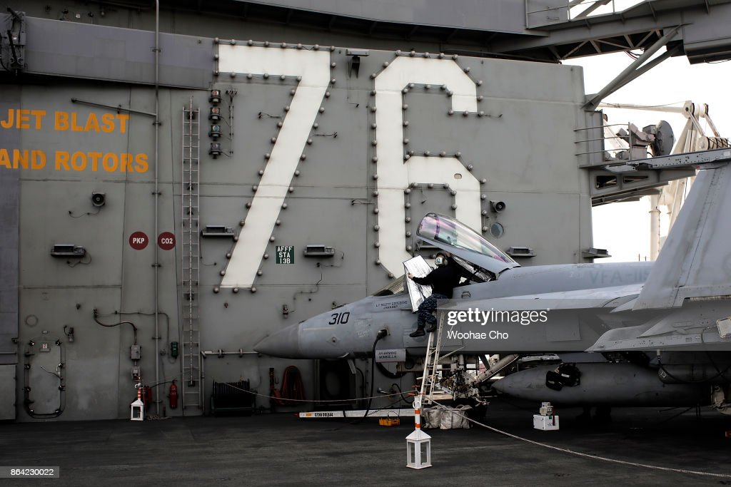 US Aircraft Carrier Ronald Reagan Visits Busan