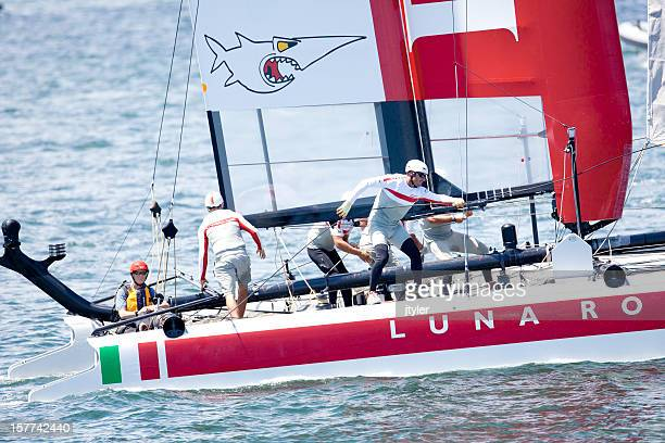 Crew of the Luna Rosa Racing Yacht