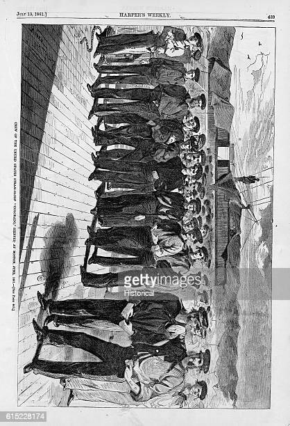 Crew of the United States SteamSloop 'Colorado' Shipped at Boston June 1861