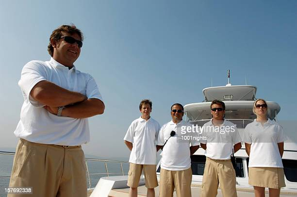 Crew of the yacht