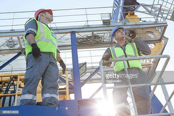 Crew working onboard a ship