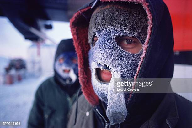 Crewman with Frost Covered Face Mask