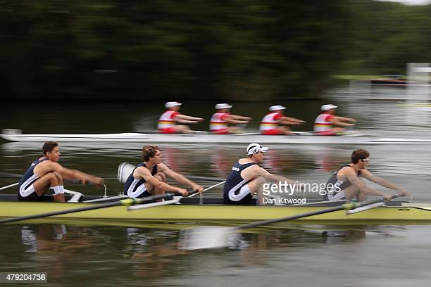Crews race on day two of the Henley Royal Regatta on July 2 2015 in HenleyonThames England This year is the events 176th year The Henley Royal...