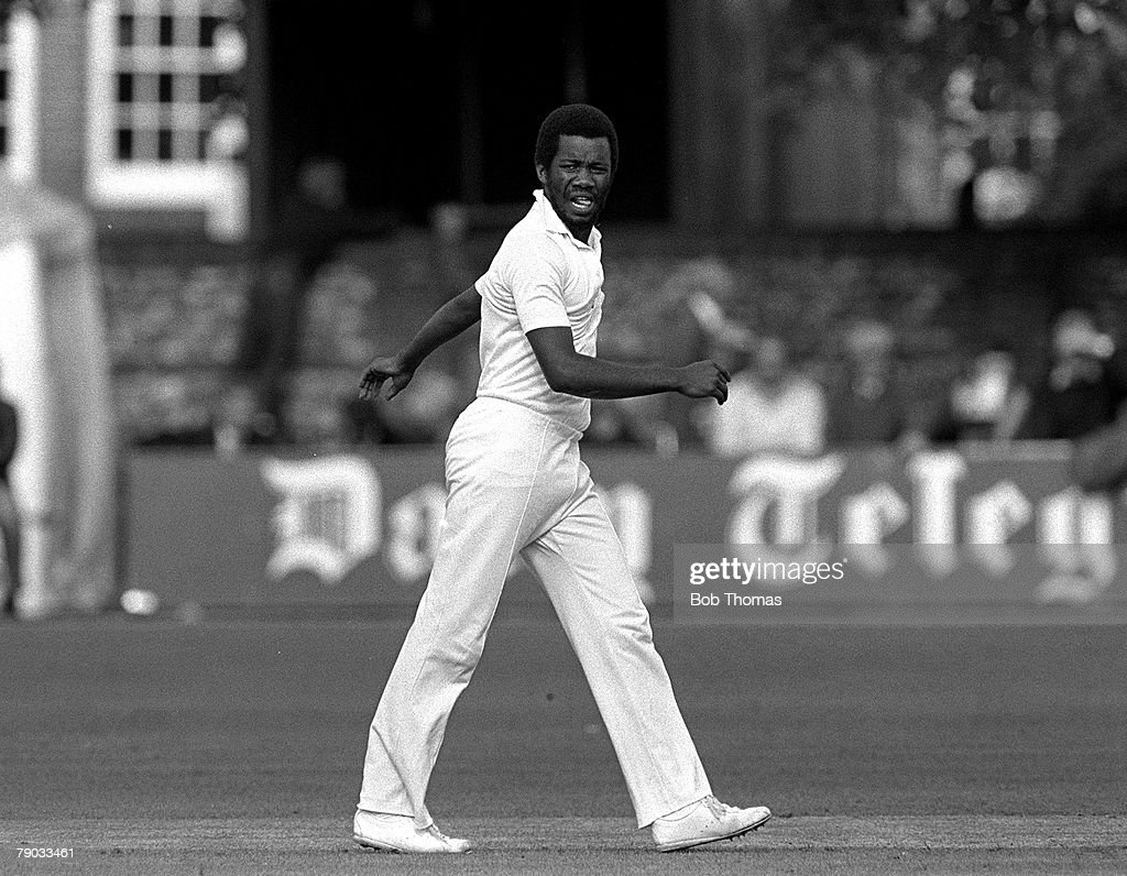 Cricket 27th June 1982 John Player League Hampshire v Kent A picture of legendary West Indies and Hampshire fast bowler Malcolm Marshall