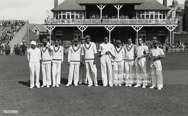 Cricket A picture of the All India Cricket side which toured England when they played their first Test LR Lall Singh S Nazir Ali Jehangir Khan S...